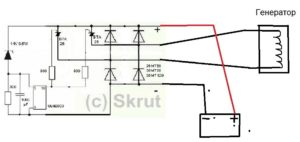 Схема подключение реглятора напряжение